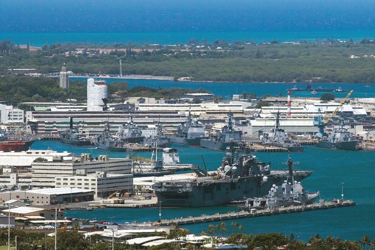 قاعدة بيرل هاربر الأميركية بـ هاواي - الصورة عن قناة الحرة الأميركية