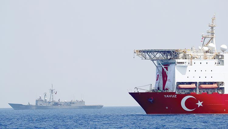 سفينة تركية للاستكشاف والتنقيب شرق المتوسط