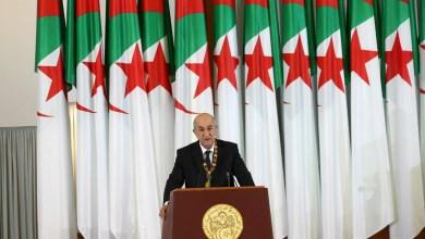 رئيس الجمهورية الجزائرية عبد المجيد تبون