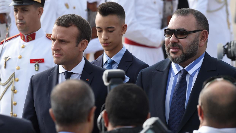 العاهل المغربي الملك محمد السادس والرئيس الفرنسي إيمانويل ماكرون- إرشيفية