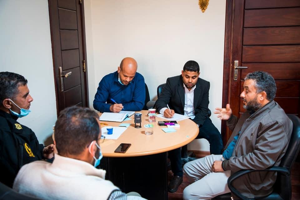 اجتماع لجنة إدارة مكافحة جائحة كورونا ببلدية زليتن