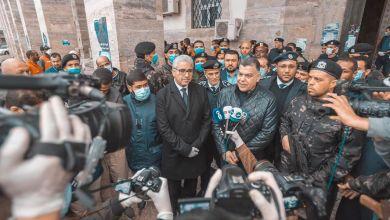 جولة وزير داخلية الوفاق للوقوف على أعمال مكافحة انتشار كورونا في طرابلس