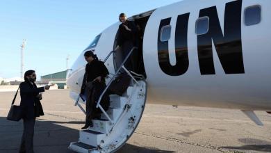 """سيسيليا جيمينيز داماري عند زيارتها لليبيا قبل عامين- """"أرشيفية"""""""