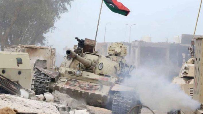 """من عمليات الجيش الوطني في محاور جنوبي طرابلس-""""أرشيفية"""""""