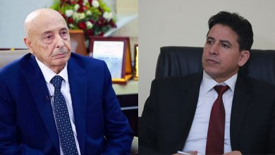 رئيس البرلمان عقيلة صالح يلتقي مع رئيس الشؤون الخارجية بمجلس النواب