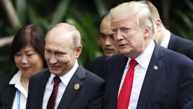 """الرئيس الأميركي دونالد ترامب ونظيره الروسي فلاديمير بوتن-""""أرشيفية"""""""