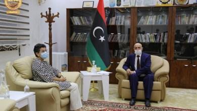 رئيس البرلمان الليبي عقيلة صالح يستقبل في القبة وزيرة خارجية إسبانيا أرانتشا غونزاليس لايا