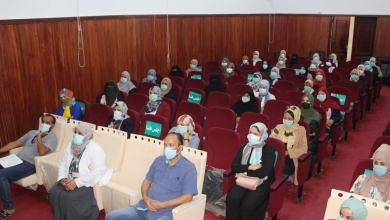 ورشة توعوية حول الوقاية من كورونا في المدارس بمدينة بنغازي- تصوير عبد الرحمن كحيل
