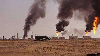 """حقل نفطي جزائري في حاسي مسعود - على الحدود مع ليبيا -""""أرشيفية"""""""