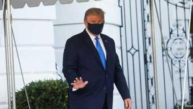 الرئيس الأميركي دونالد ترامب في أول ظهور له بعد إصابته بكورونا