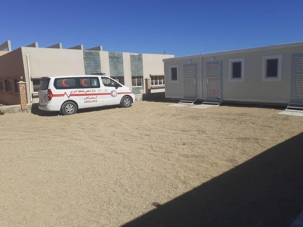 منظمة الهجرة الدولية تجهز غرف عزل صحي بمنفذ راس اجدير الحدودي مع تونس