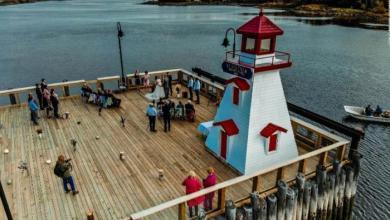 حفل الزفاف على الحدود الأمريكية الكندية