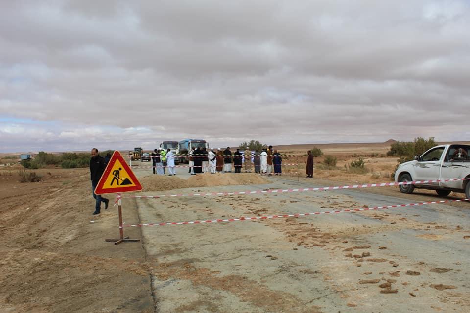 انطلاق أعمال الصيانة لطريق سيناون نالوت