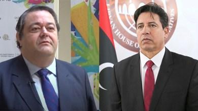 """اتصال هاتفي بين يوسف العقوري وسفير اسبانيا لدى ليبيا """"فرانشيسكو خافيير"""""""