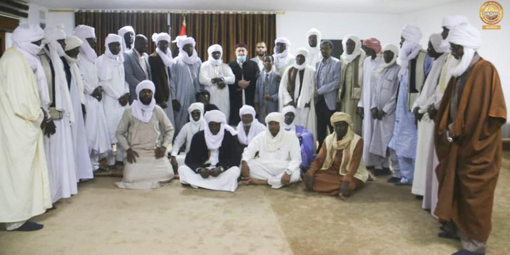 """لقاء رئيس مجلس النواب """"عقيلة صالح"""" مع وفد رابطة شباب التبو على مستوى ليبيا"""