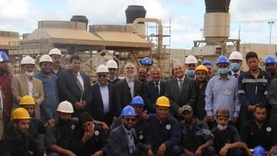 رئيس المؤسسة الوطنية للنفط مصطفى صنع الله في زيارة ميدانية لمدينة البريقة النفطية