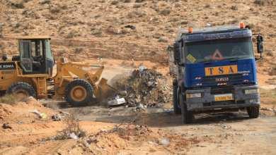 إزالة المكبات العشوائية في مدينة الرجبان