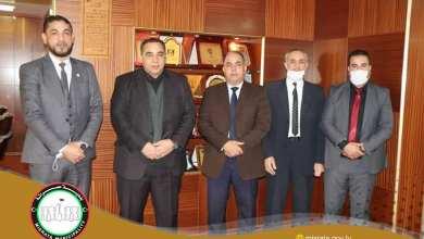 بلدي مصراتة يبحث مع هيئة الرياضة في طرابلس مشاريع إنشاءات رياضية في مصراتة