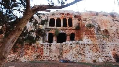 """""""حقفة المنيخرات"""" قرب المرج آثار إغريقية عمرها أكثر من 1500 سنة -""""صورة متداولة"""""""