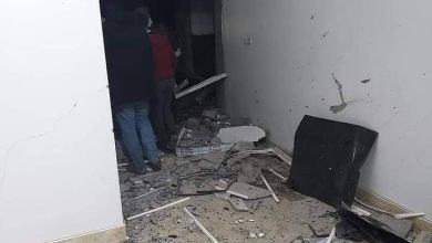صورة متداولة عن آثار الاشتباكات المسلحة في طبرق
