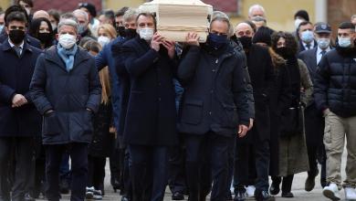 """جانب من جنازة أسطورة كرة القدم الإيطالية """"باولو روسي"""""""