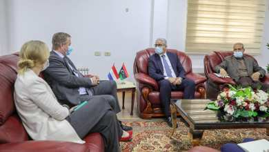 لقاء وزير داخلية الوفاق مع السفير الهولندي لدى ليبيا والوفد المرافق له