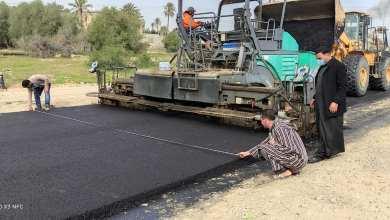 مكتب المشروعات في بلدية زليتن ينهي تعبيد طريق كلية التربية - سوق الثلاثاء