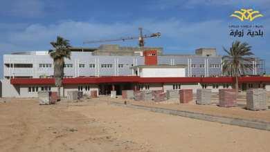 جانب من المباني الخارجية المضافة لمستشفى زوارة المركزي