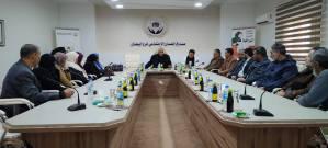 لقاء رئيس المجلس التسييري طبرق فرج أبوالخطابية مع موظفي الإصحاح البيئي