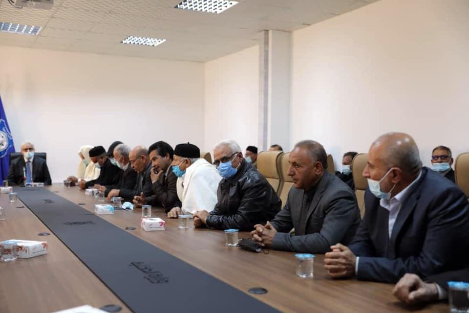 لقاء باشاغا مع فاعليات مدينة مصراتة من حكماء وأعيان وأعضاء مجلس عسكري ونشطاء