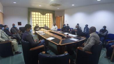 """اجتماع """"تسسير الجفرة"""" مع القطاعات بشأن التباحث في الوضع الوبائي"""
