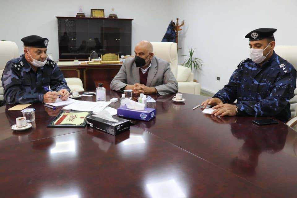 اجتماع إدارة الدعم المركزي استعداداً لتأمين مباراة ليبيا وتونس