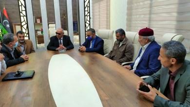 """اجتماع """"بوالخطابية"""" و""""الشلماني"""" لوضع الترتيبات لتنظيم انتخابات الاتحاد الليبي العام لكرة القدم"""