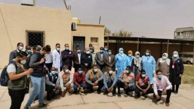 فريق المركز الوطني لمكافحة الأمراض يصل بلدة غدوة في حملة تطعيمات ضد الوباء الكبدي