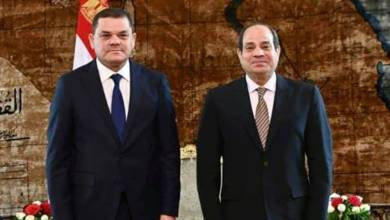 عبدالفتاح السيسي وعبدالحميد الدبيبة- القاهرة