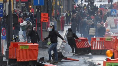 إصابة 30 شرطي في أعمال عنف شرق بلجيكا