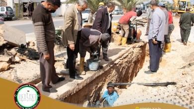 معالجة خط الصرف الصحي طريق الجزيرة قرب مسجد تيكة