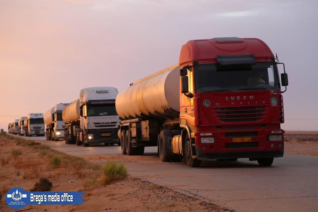 سبها تستقبل قافلة محملة بـ 1.673 مليون لتر من البنزين