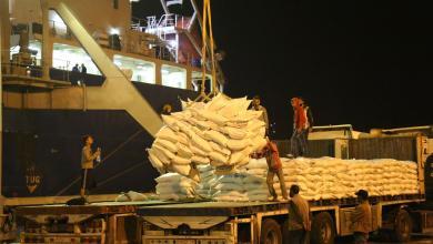 ميناء مصراتة يستقبل 15 ألف طن من الأرز قادمة من الصين