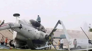 سقوط طائرة تنقل سيولة في ترهونة