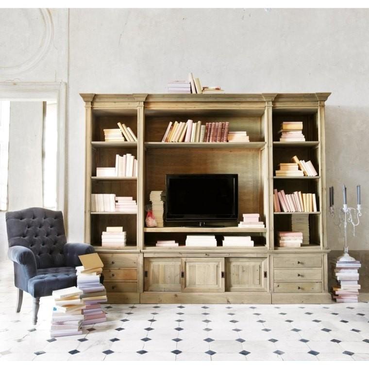 Mobile tv a 2 ante e 1 cassetto in legno massello di acacia tony su maisons du monde. Libreria Maisons Du Monde Xxi Secolo
