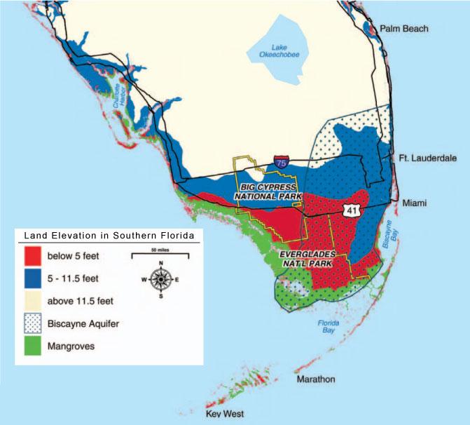 Miami Beach Florida Elevation