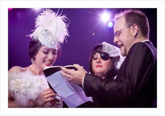 The Couple say their Vows... (Courtesy of LA Burlesque)