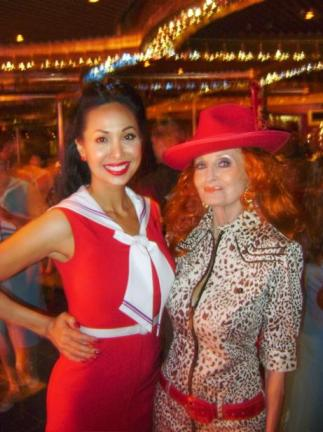 Kalani and Tempest on the Bettie Page Cruise.