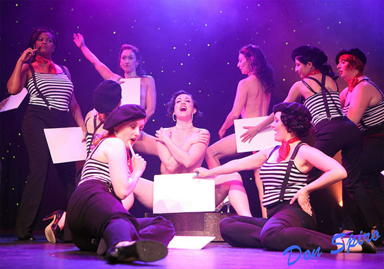 The Starlets perform their winning routine with Michelle L'amour at the Burlesque Hall of Fame Weekend, 2010.  ©Don Spiro