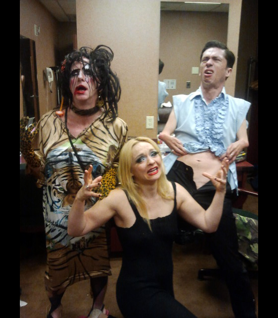 Tigger!, Julie Atlas Muz and Mat Fraser, backstage before the Thursday Night Showcase...  ©Minnie Tonka