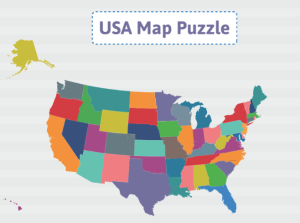 USA Map Puzzle ABCYA Game