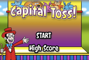 Capital Toss Game ABCYA Game