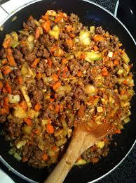 Ground Beef, Sauce, Rice and Veggies