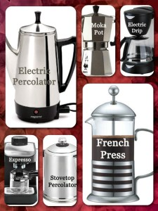 Different Coffee Pots
